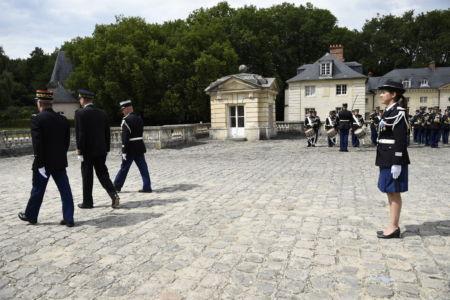 Cérémonie de passation de commandement de l'unité de Gendarmerie départementale de l'Essonne prise par la colonelle Karine LEJEUNE
