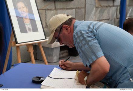 Hommage rendu à Simone VEIL et son mari au mémorial de la Shoah